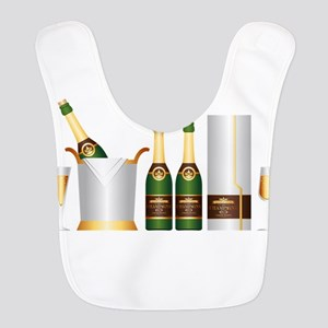 champagne bottle Bib