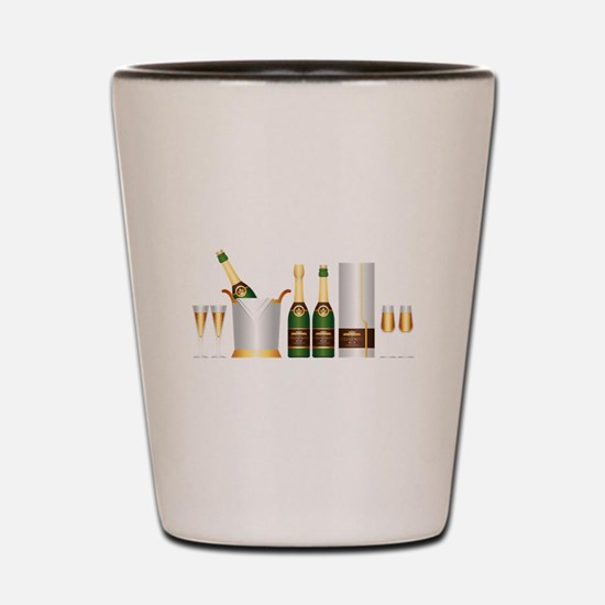 champagne bottle Shot Glass