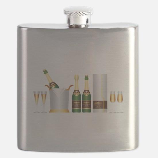 champagne bottle Flask