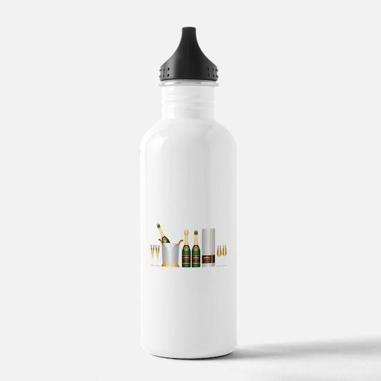 champagne bottle Water Bottle