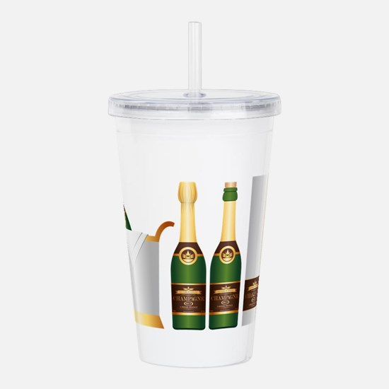 champagne bottle Acrylic Double-wall Tumbler