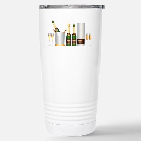 champagne bottle Stainless Steel Travel Mug