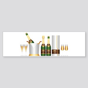 champagne bottle Bumper Sticker