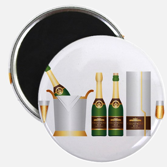 champagne bottle Magnets