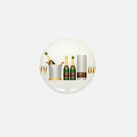 champagne bottle Mini Button