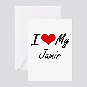 I Love My Jamir Greeting Cards