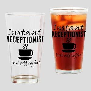 Instant Receptionist Just Add Coffee Drinking Glas