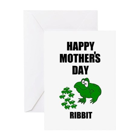 MOTHER'S DAY FROG LOOK Greeting Card