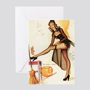 Halloween Sexy Trick AND Treat Greeting Cards
