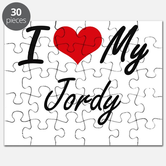 I Love My Jordy Puzzle