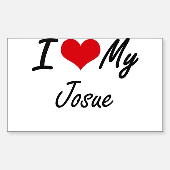 I Love My Josue Decal