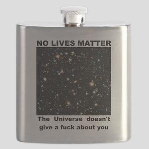 No Lives Matter (Explicit - Black) Flask