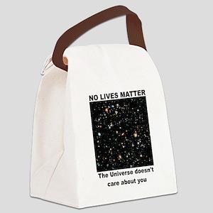 No Lives Matter (Clean - Black) Canvas Lunch Bag