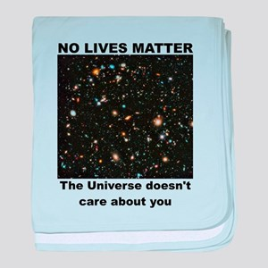 No Lives Matter (Clean - Black) baby blanket