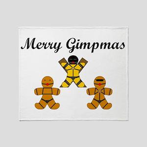 Merry Gimpmas (Black) Throw Blanket
