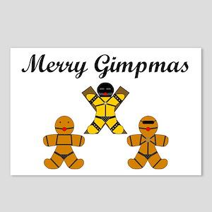 Merry Gimpmas (Black) Postcards (Package of 8)