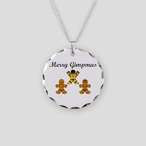 Merry Gimpmas (Black) Necklace Circle Charm