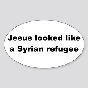 Jesus Syrian (Black) Sticker