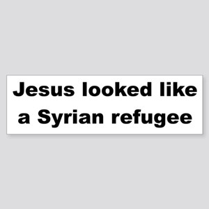 Jesus Syrian (Black) Bumper Sticker