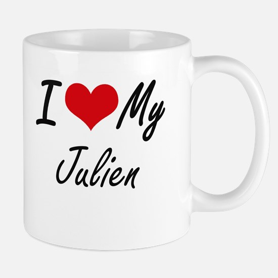 I Love My Julien Mugs