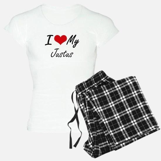 I Love My Justus Pajamas