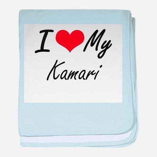 I Love My Kamari baby blanket