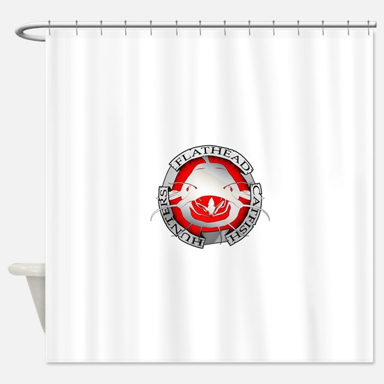 Flathead catfish hunters Shower Curtain
