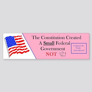 Constitution Small Government Bumper Sticker