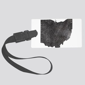 Gray Textured Ohio Large Luggage Tag