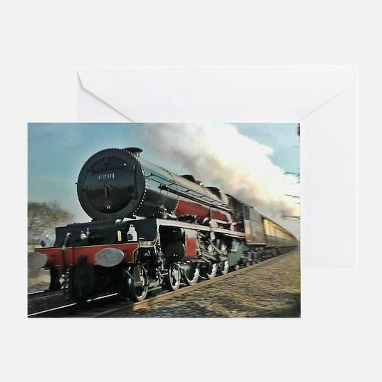 Funny Steam train Greeting Card