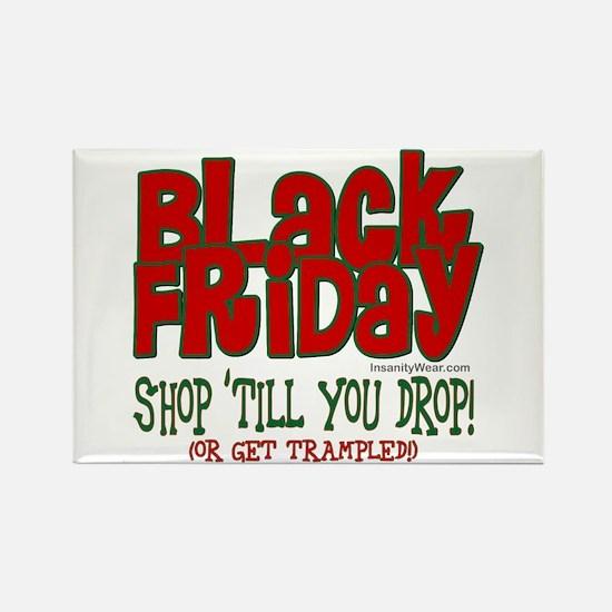 Black Friday Shop 'Til Rectangle Magnet (10 pack)