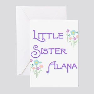 Little Sister Alana Greeting Cards (Pk of 10)