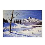 Winter lake landscape Postcards (Package of 8)