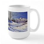 Winter lake landscape Mugs