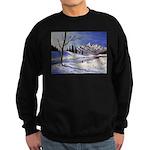 Winter lake landscape Sweater