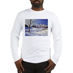 Winter lake landscape Long Sleeve T-Shirt