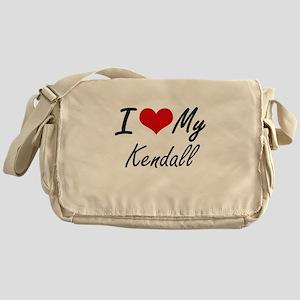 I Love My Kendall Messenger Bag