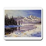 Winter river scene Mousepad