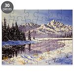 Winter river scene Puzzle