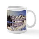Winter river scene Mugs