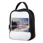 Winter river scene Neoprene Lunch Bag