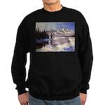 Winter river scene Sweater