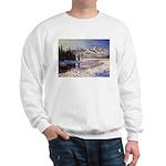 Winter river scene Jumper
