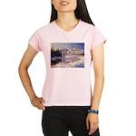 Winter river scene Performance Dry T-Shirt