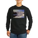 Winter river scene Long Sleeve T-Shirt