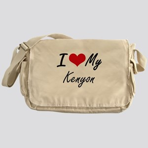 I Love My Kenyon Messenger Bag