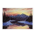 Winter sunset scene Postcards (Package of 8)