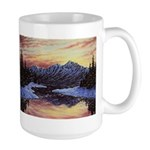 Winter sunset scene Mugs