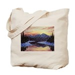 Winter sunset scene Tote Bag