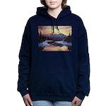 Winter sunset scene Women's Hooded Sweatshirt